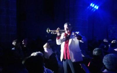 Jean-Claude Borelly et sa trompette d'Or