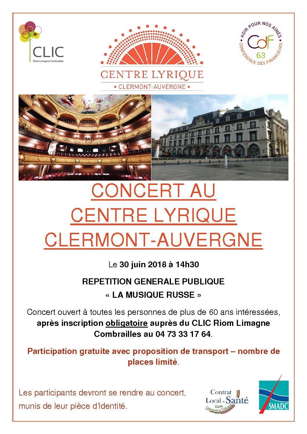 Concert gratuit à l'opéra de Clermont-Ferrand