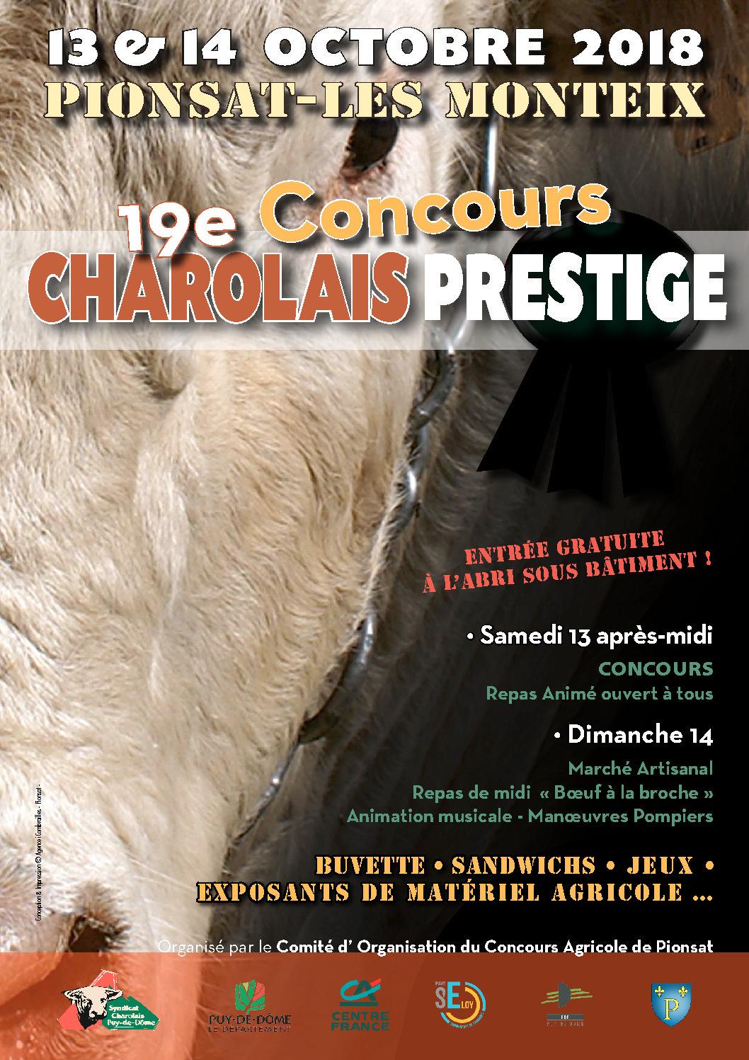 19e Concours Charolais Prestige à Pionsat