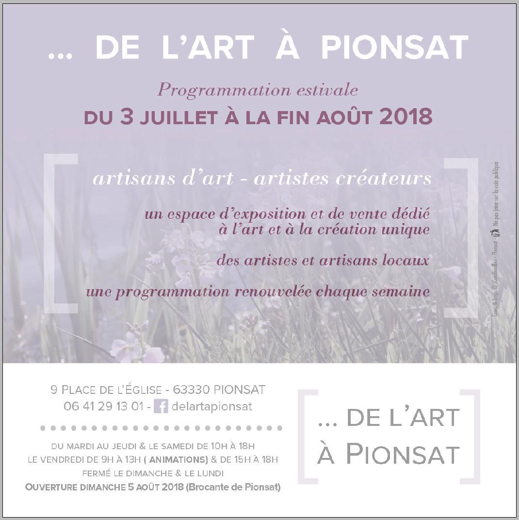 Nouvelle saison pour De l'art à Pionsat !