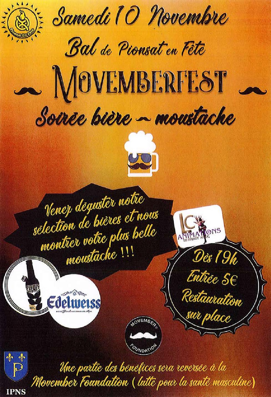 Bal MovemberFest le 10 novembre : soirée bière-moustache