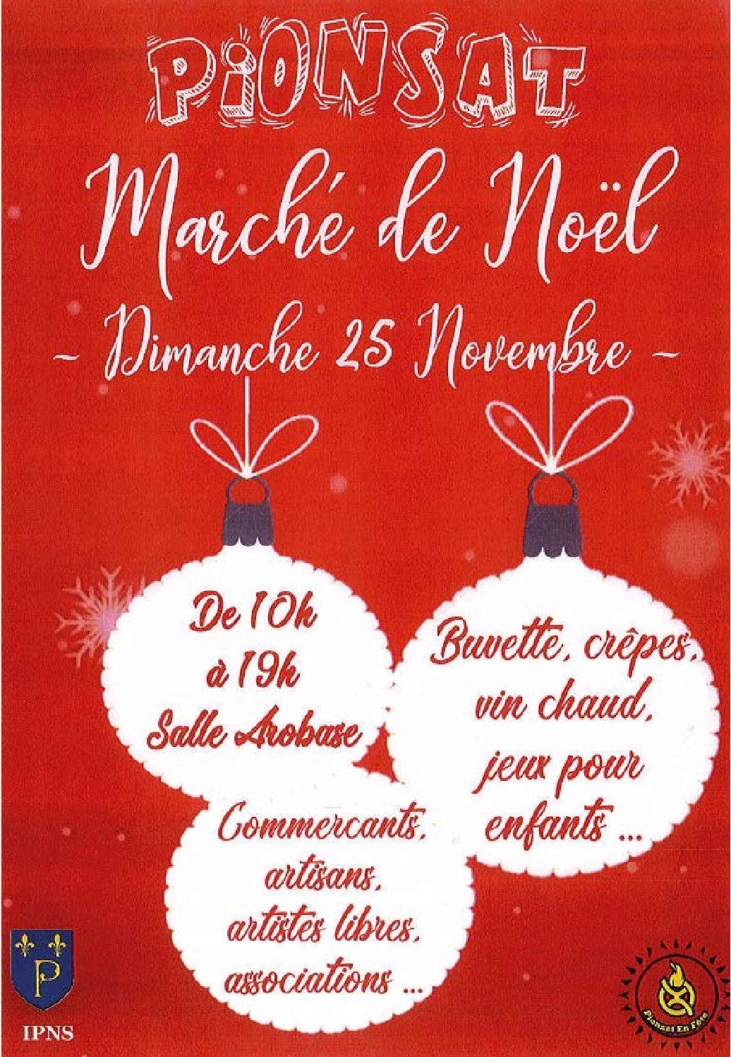Marché de Noël : le 25 novembre à l'@robase