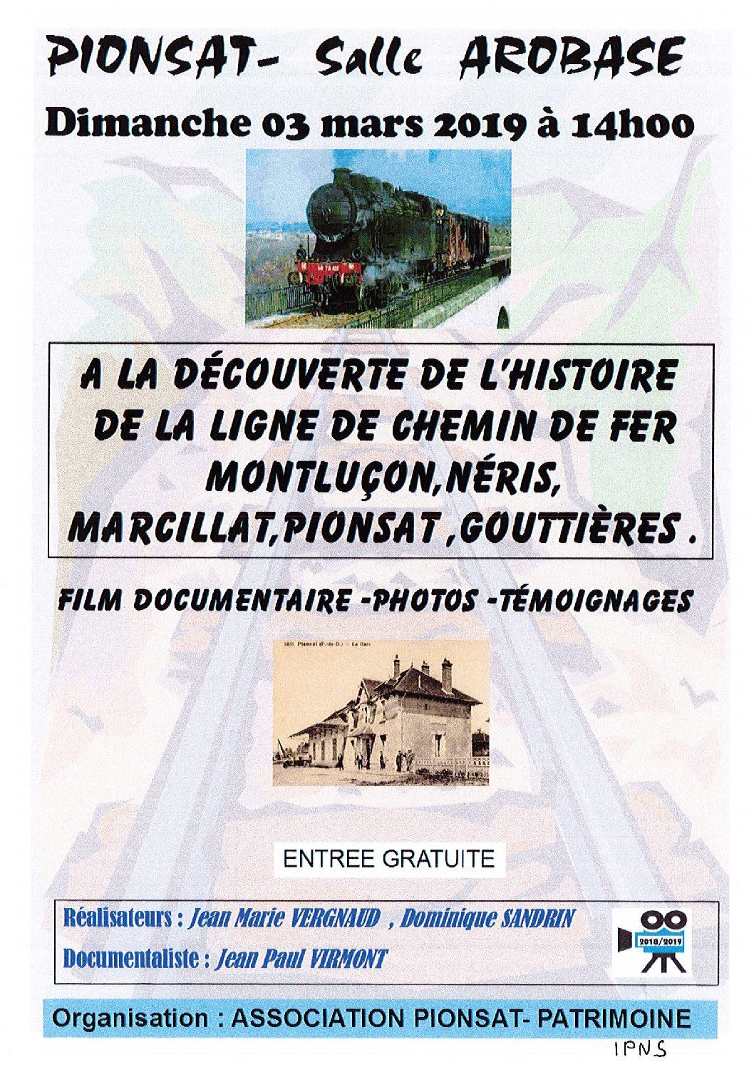 DECOUVERTE DE L'HISTOIRE DE LA LIGNE DE CHEMIN DE FER