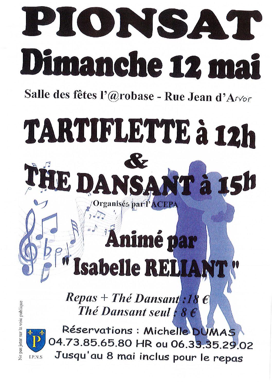TARTIFLETTE DU 12 MAI