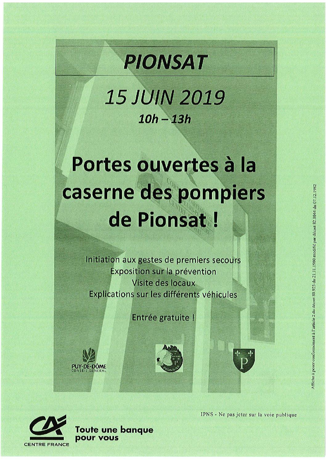 PORTES OUVERTES CASERNE DES POMPIERS