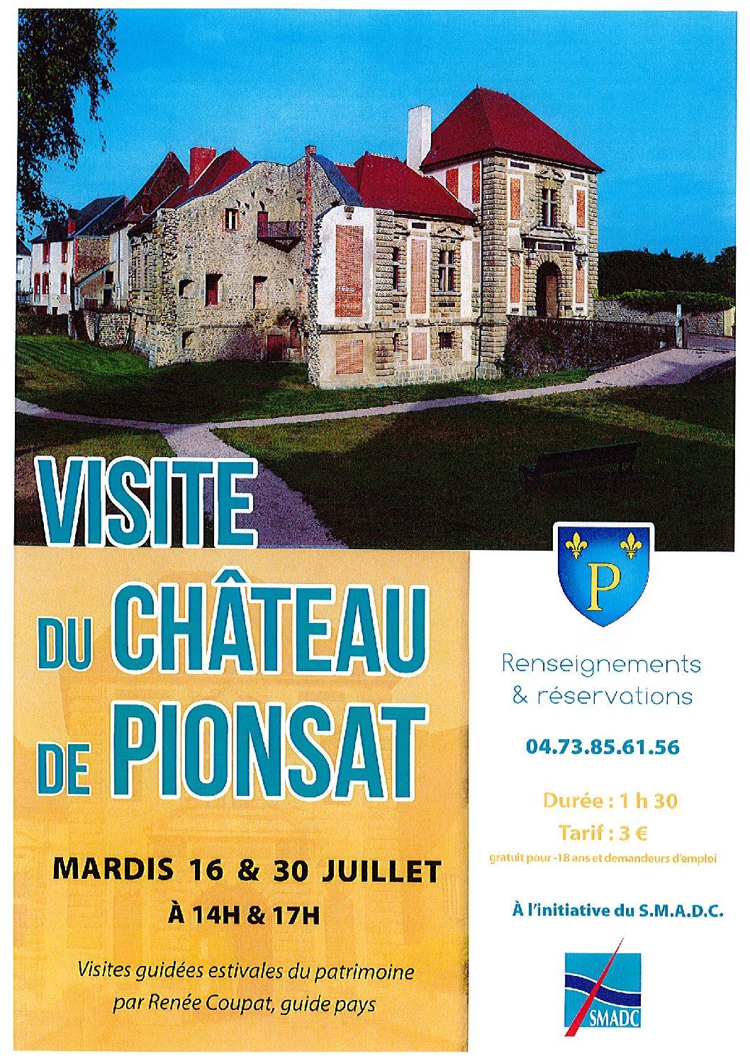 VISITES DU CHATEAU DE PIONSAT