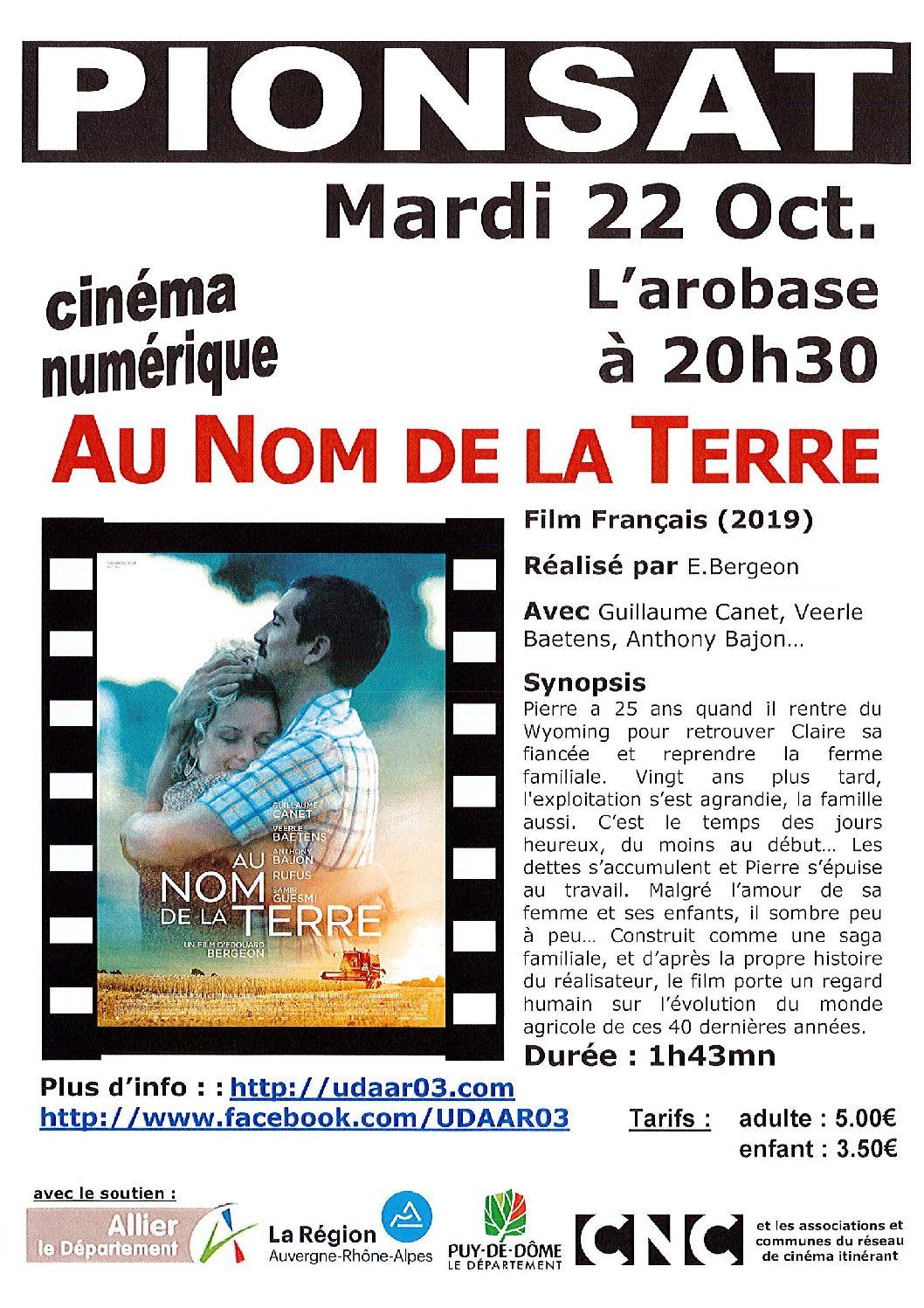 CINEMA DU 22 OCTOBRE