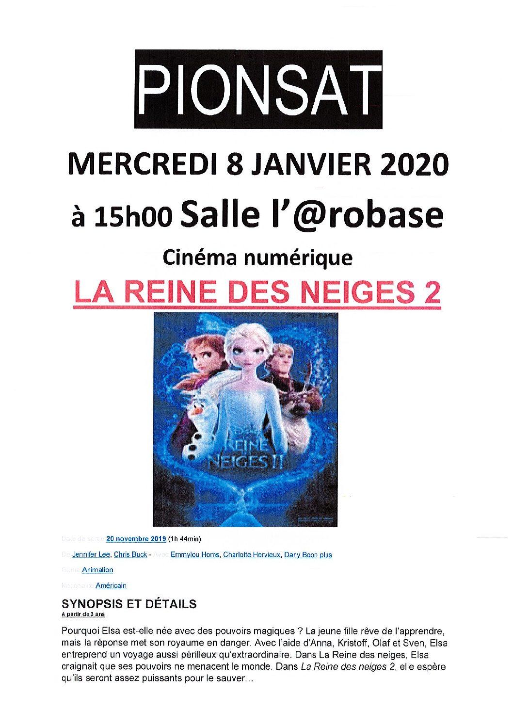 CINEMA DU 8 JANVIER 2020