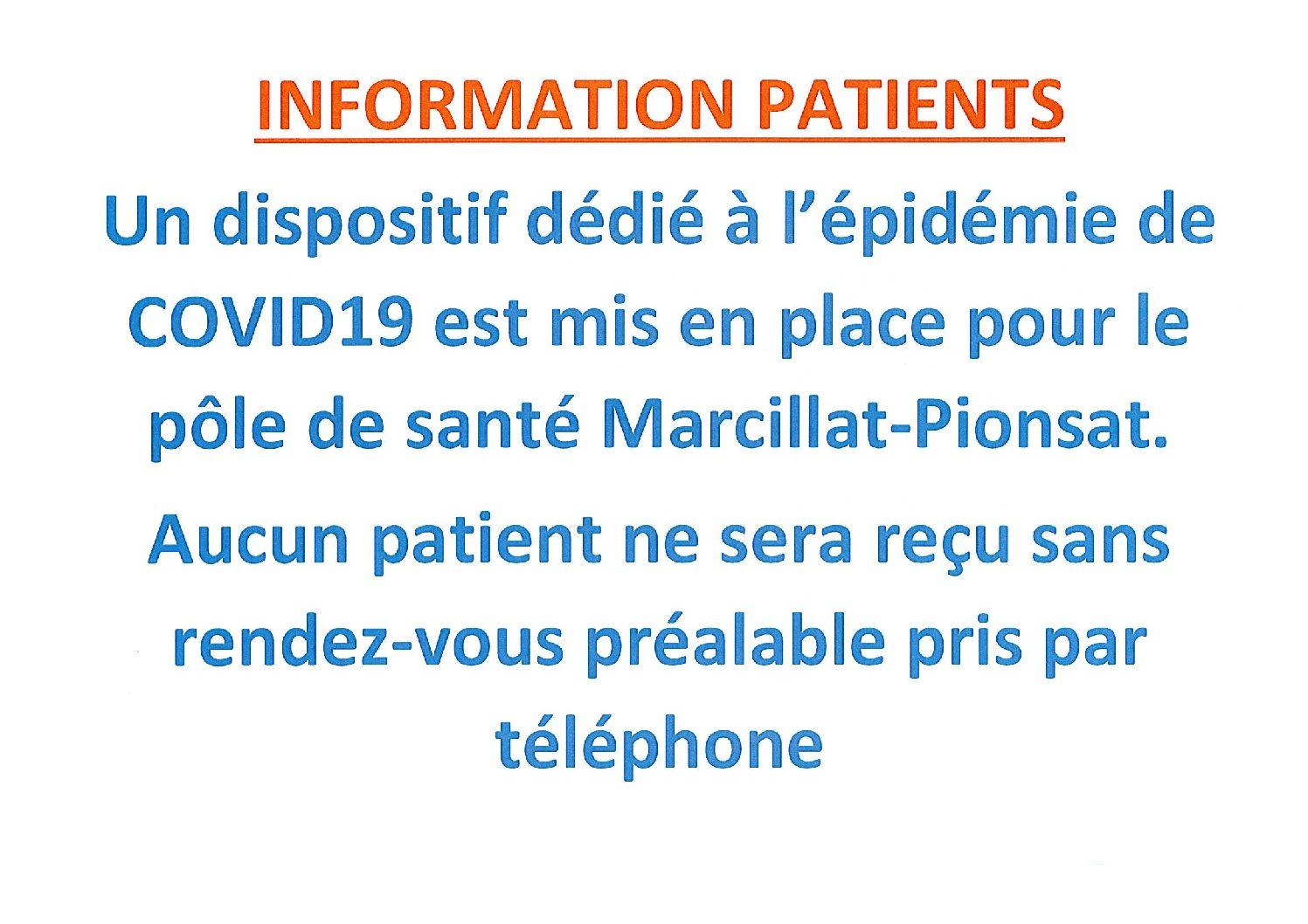 Maison de santé – prise de rendez-vous téléphonique obligatoire
