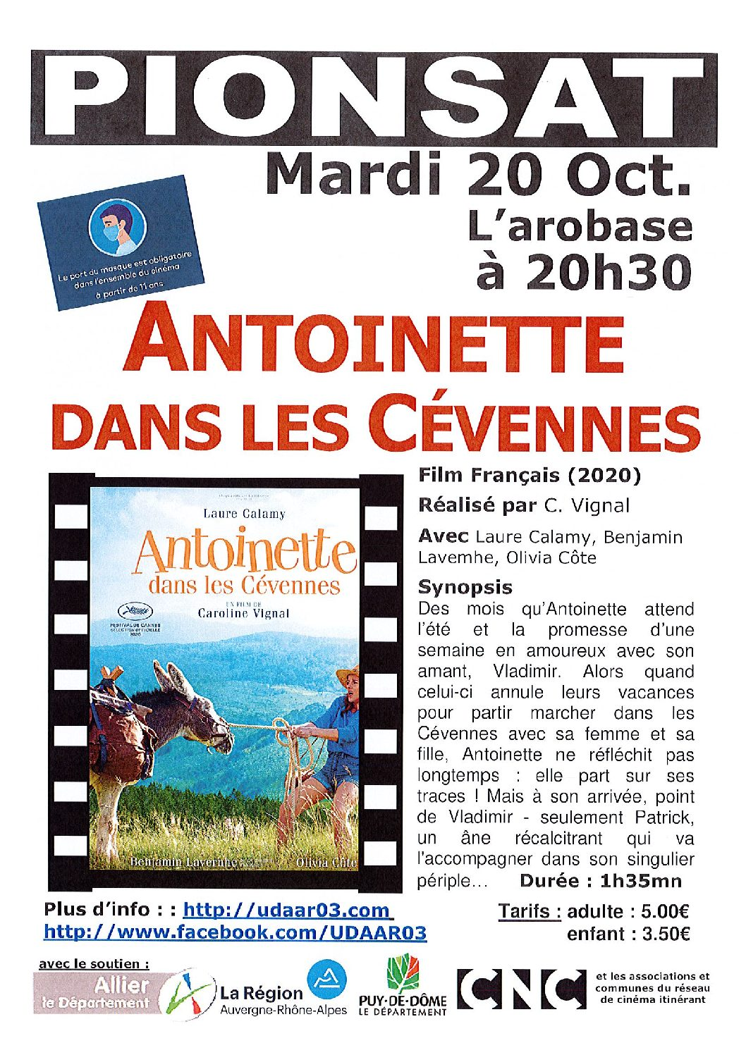 CINEMA DU 20 OCTOBRE