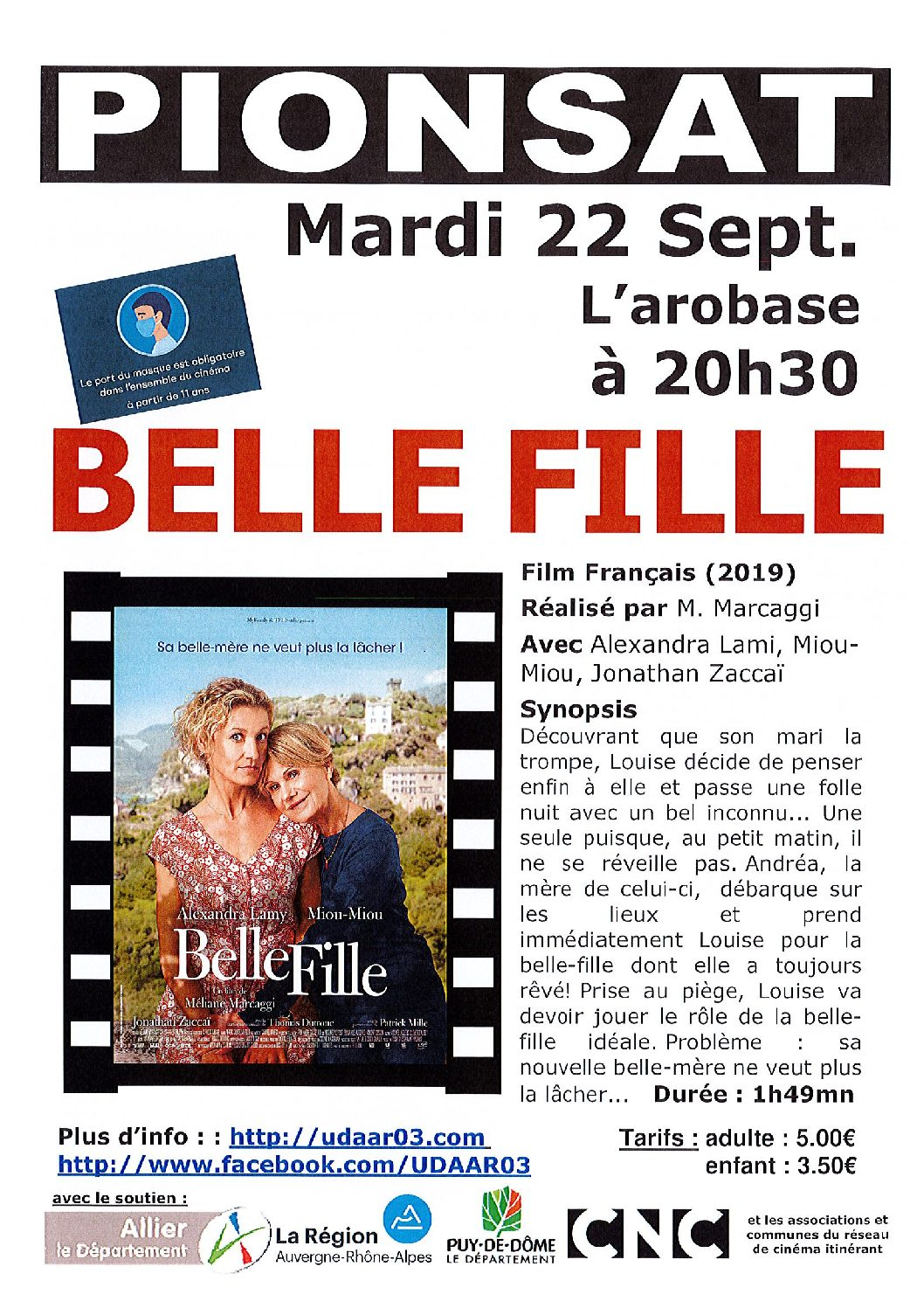CINEMA DU 22 SEPTEMBRE