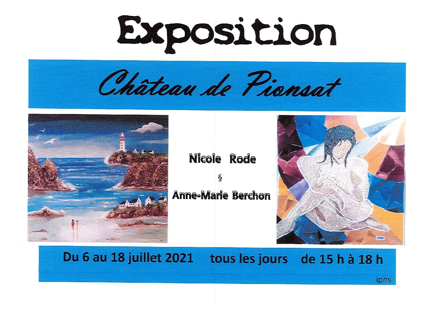EXPOSITION AU CHATEAU DE PIONSAT
