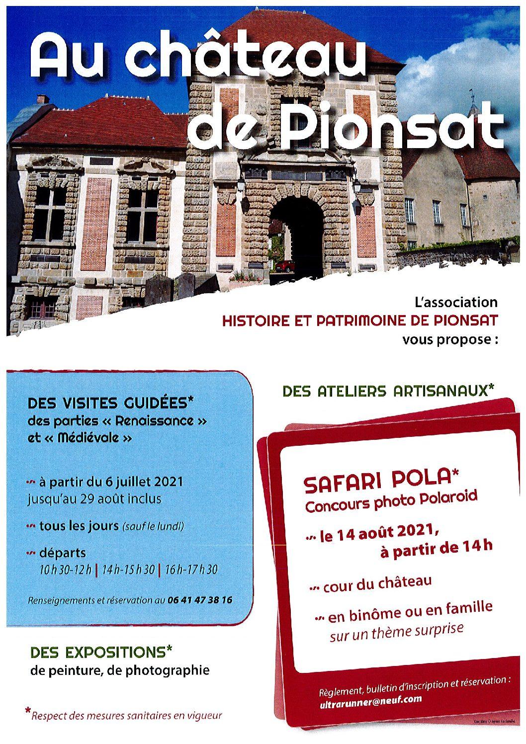 FESTIVITES AU CHATEAU DE PIONSAT