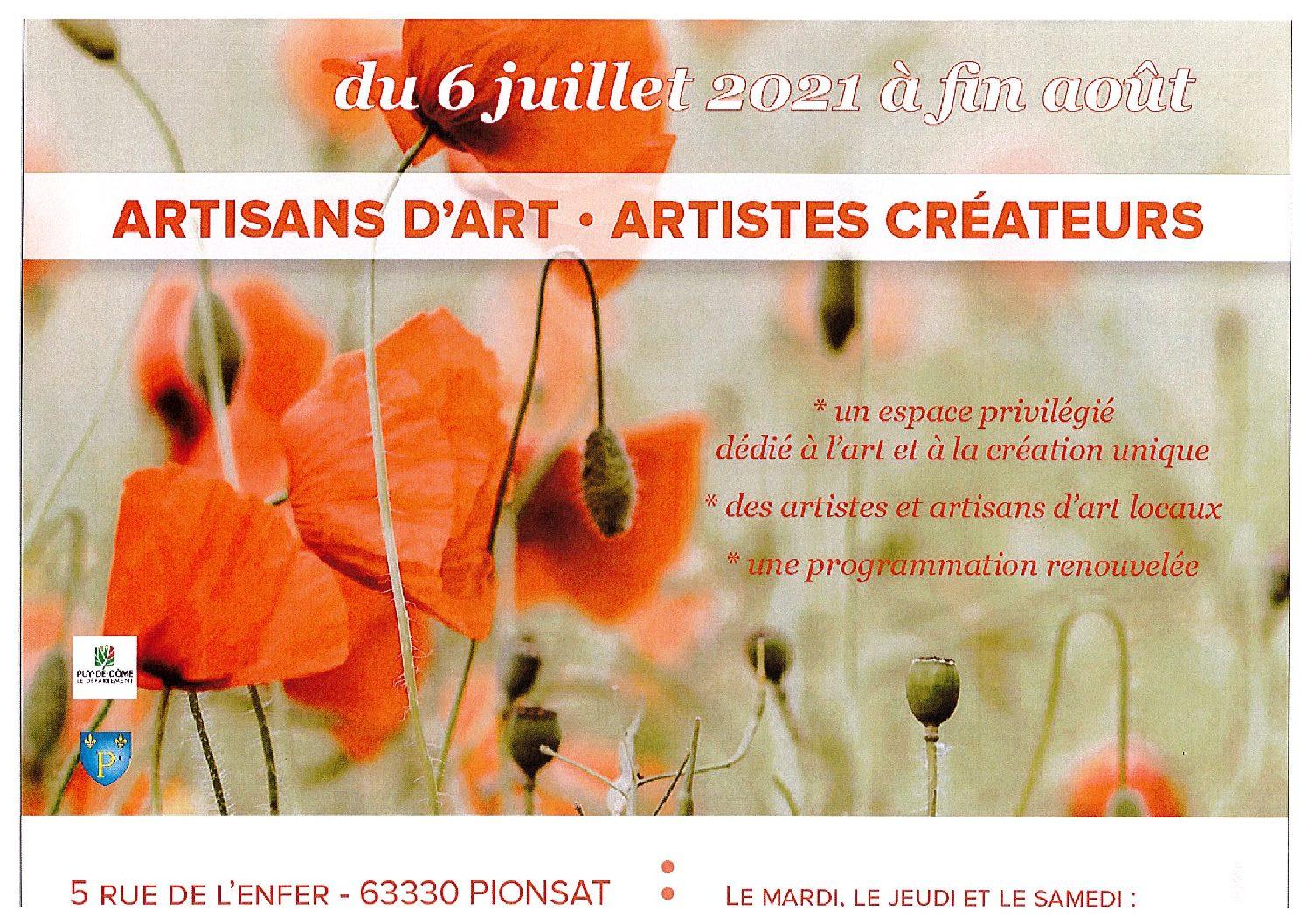 ARTISANS D'ART – ARTISTES
