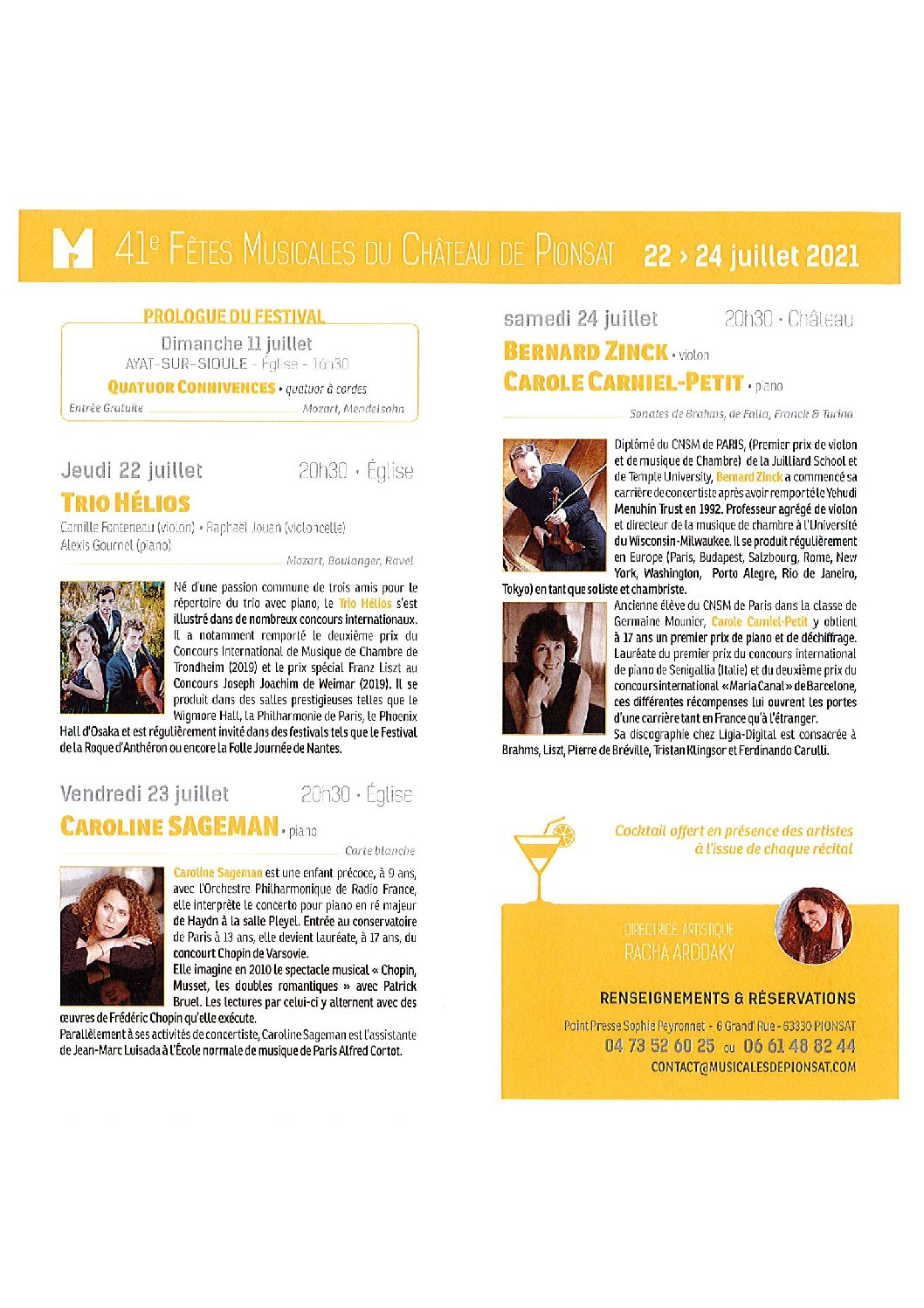 FETES MUSICALES 2021
