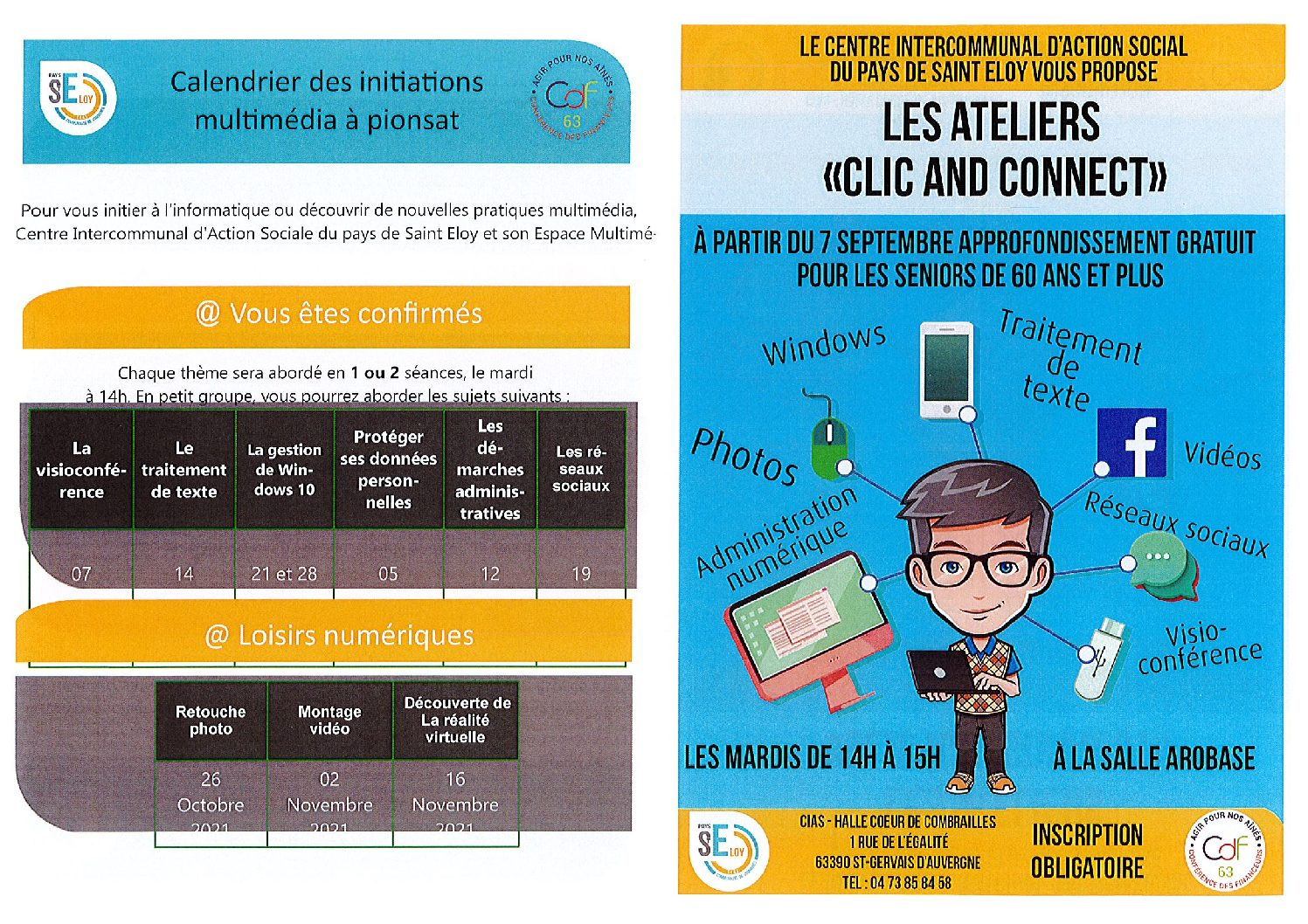 Les Ateliers «Clic and Connect»